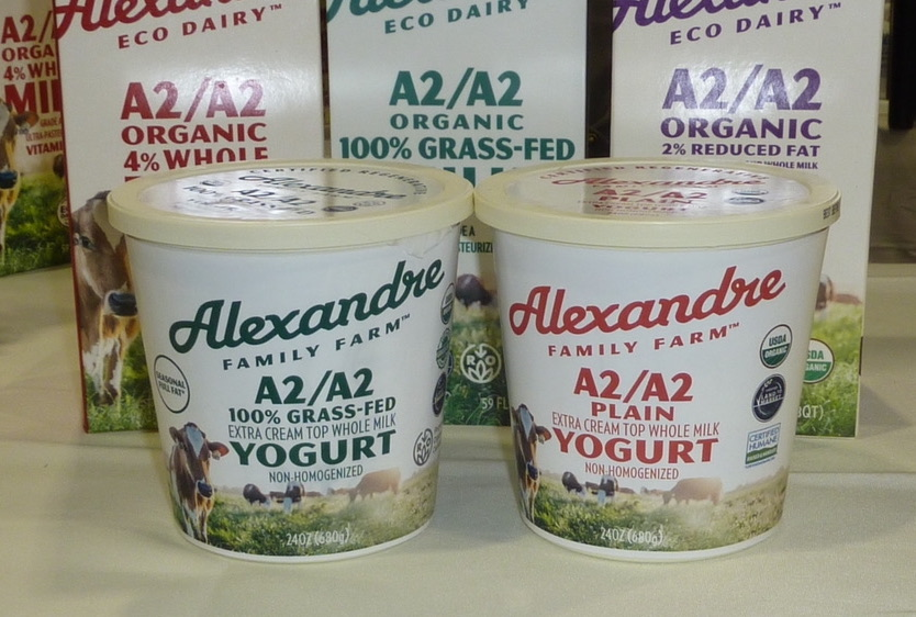 Natural Products Expo East 2021 in Philadelphia best organic products Alexandre Family Farm A2 grass-fed organic yogurt