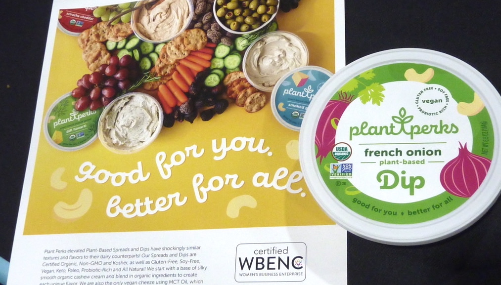 Natural Products Expo East 2021 in Philadelphia best organic products plant perks plant-based organic French onion dip