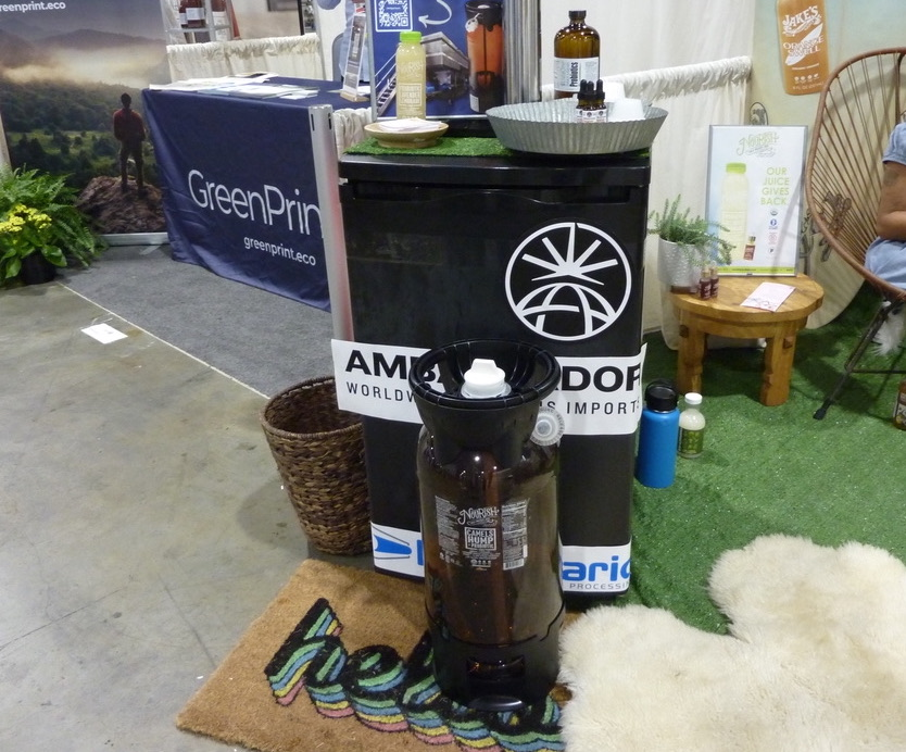Natural Products Expo East 2021 in Philadelphia best organic products Nourish Juice Bar organic HPP juice keg
