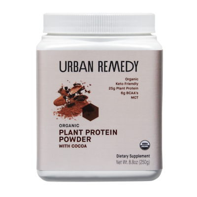 organic plant-based protein powder with cocoa from Urban Remedy